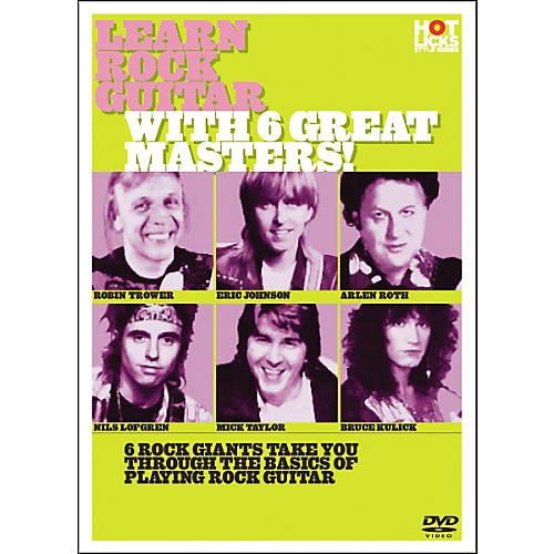Hot Licks Learn Rock Guitar with 6 Great Masters DVD thumbnail