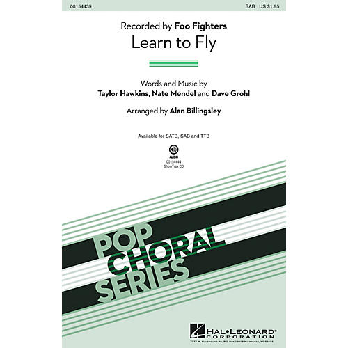 Hal Leonard Learn to Fly SAB by Foo Fighters arranged by Alan Billingsley thumbnail