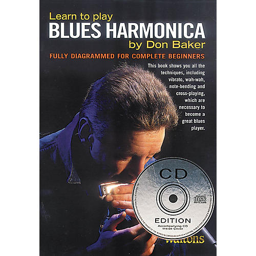 Waltons Learn to Play Blues Harmonica Waltons Irish Music Books Series Softcover with CD Written by Don Baker thumbnail
