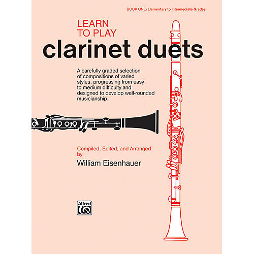 Alfred Learn to Play Clarinet Duets Book thumbnail