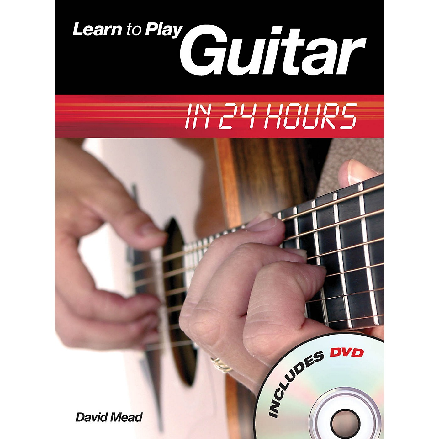 Music Sales Learn to Play Guitar in 24 Hours Music Sales America Series Softcover with DVD Written by David Mead thumbnail