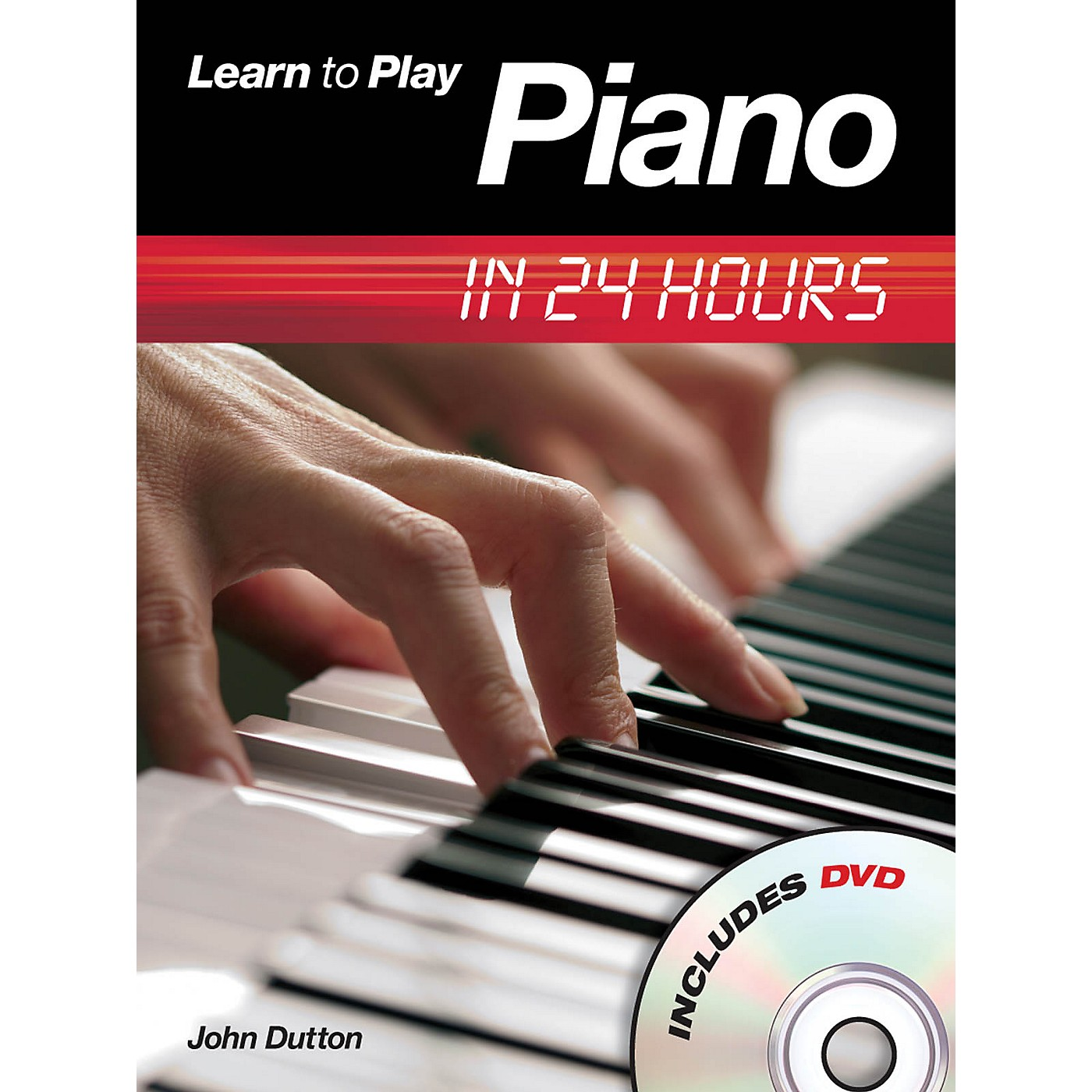 Music Sales Learn to Play Piano in 24 Hours Music Sales America Series Softcover with DVD Written by John Dutton thumbnail