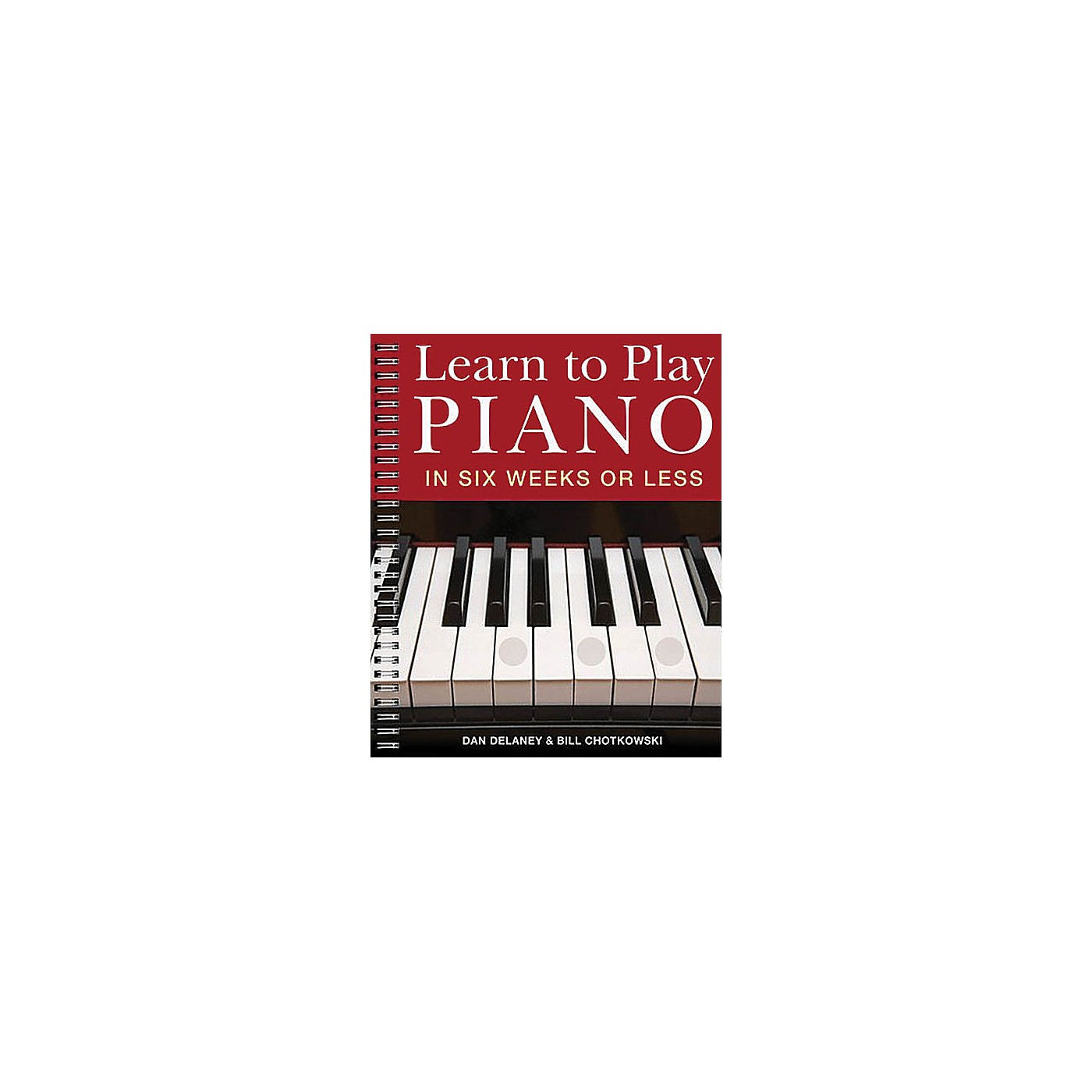 Music Sales Learn to Play Piano in Six Weeks or Less Music Sales America Series Softcover Written by Dan Delaney thumbnail
