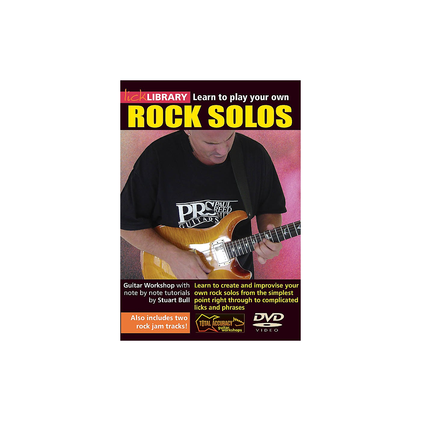 Licklibrary Learn to Play Your Own Rock Solos Lick Library Series DVD Performed by Stuart Bull thumbnail