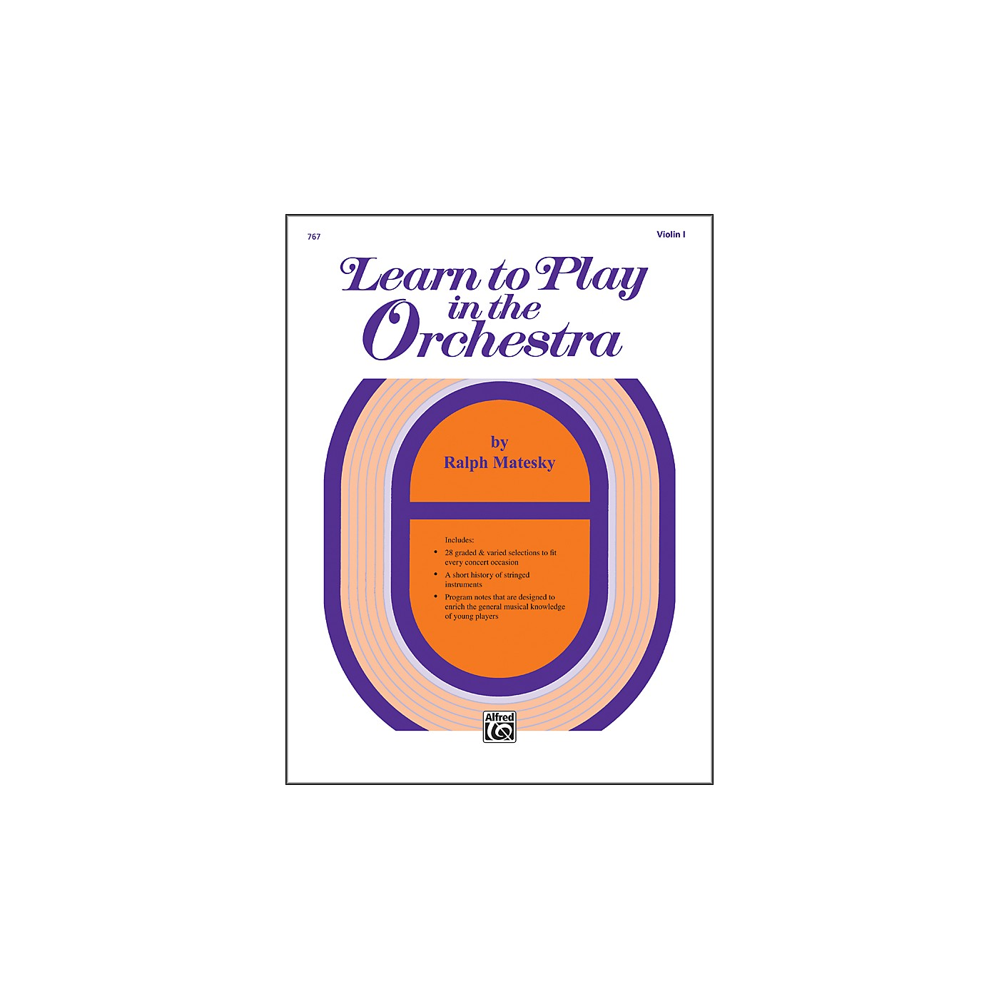 Alfred Learn to Play in the Orchestra Book 1 Violin I thumbnail