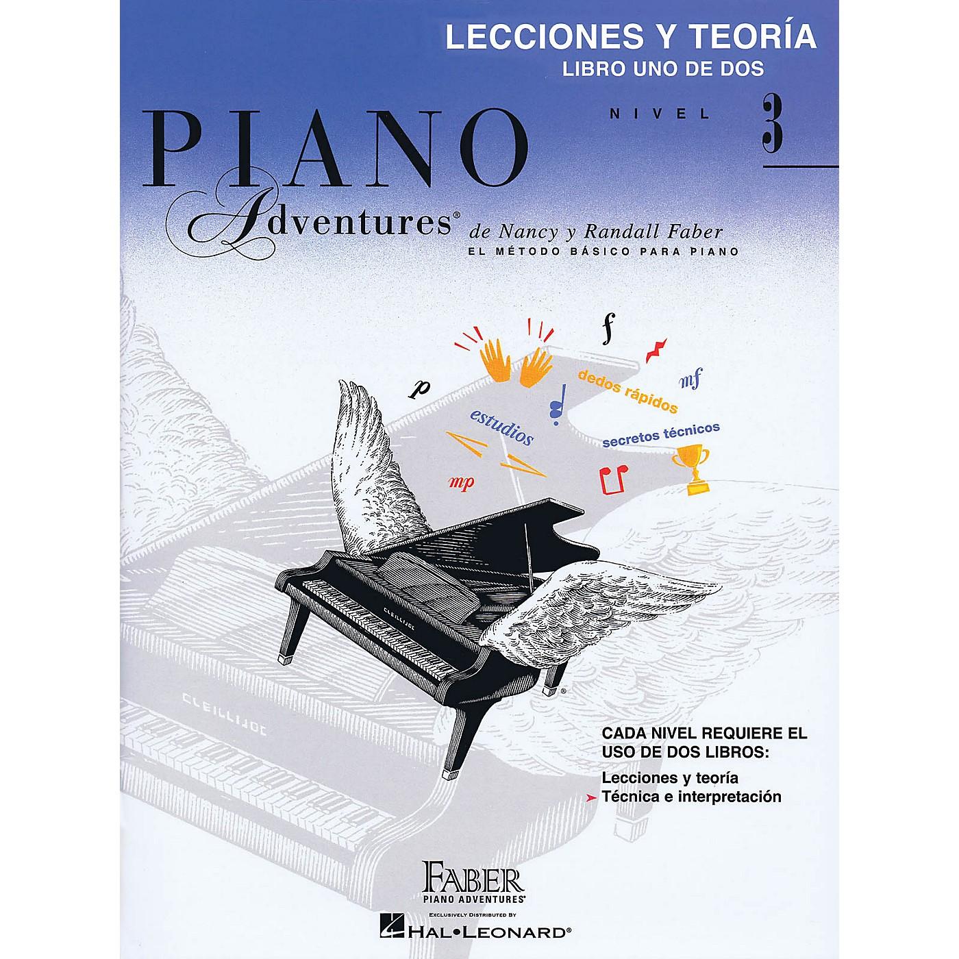 Faber Piano Adventures Lecciones Y Teoria - Libro Uno De Dos Nivel 3 Faber Piano Adventures Series Softcover by Nancy Faber thumbnail