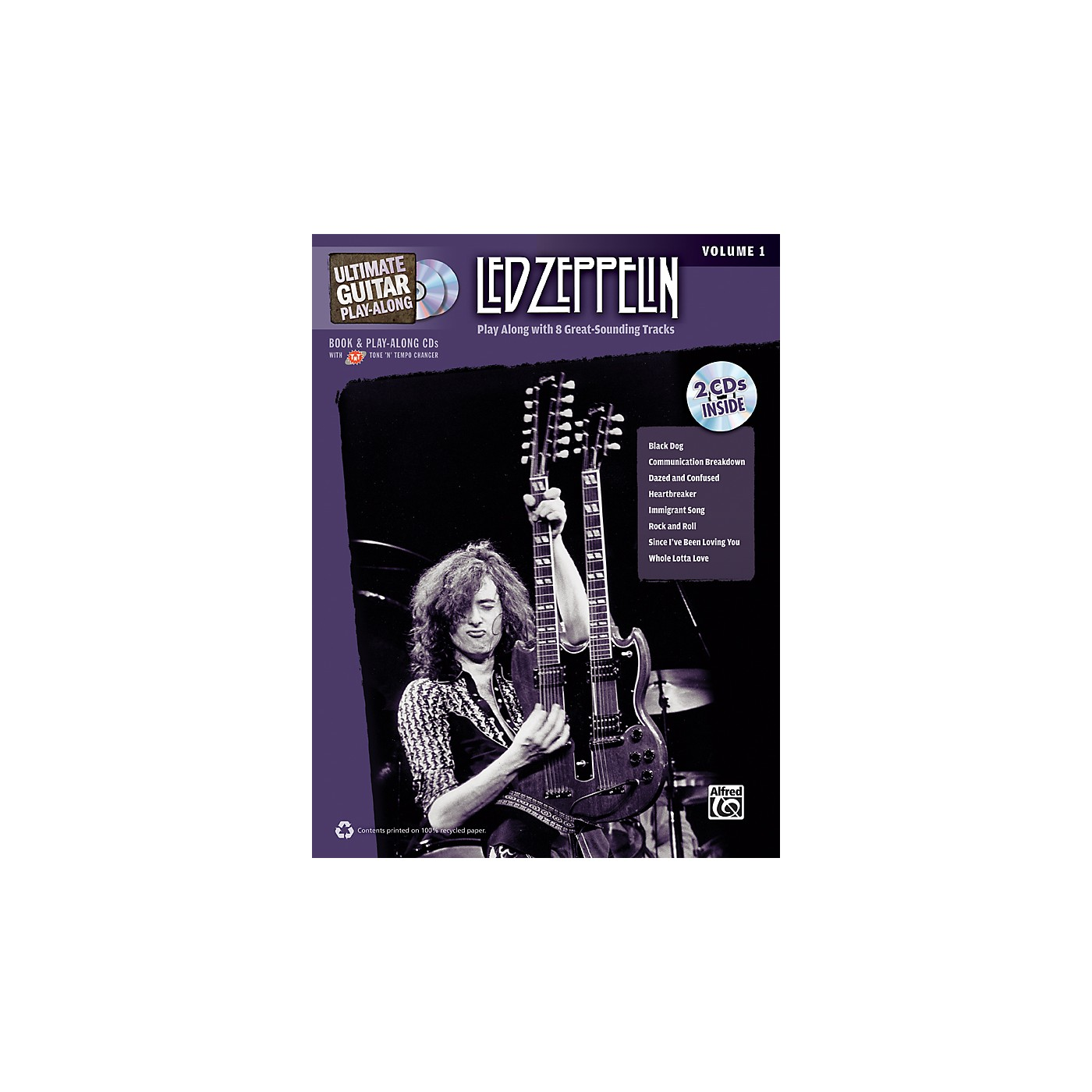 Alfred Led Zeppelin Ultimate Play Along Guitar Volume 1 with 2 CD's thumbnail