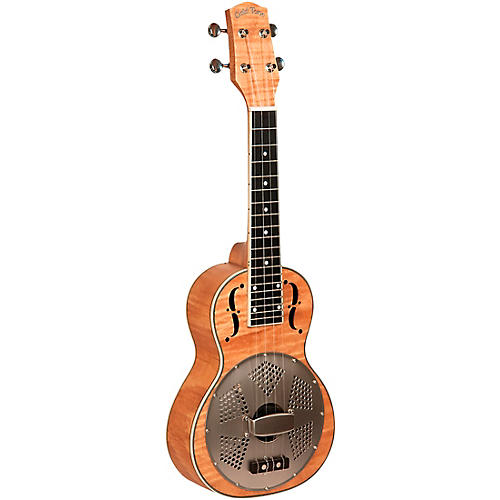 Gold Tone Left-Handed Concert-Scale Curly Maple Resonator Ukulele with Gig Bag thumbnail