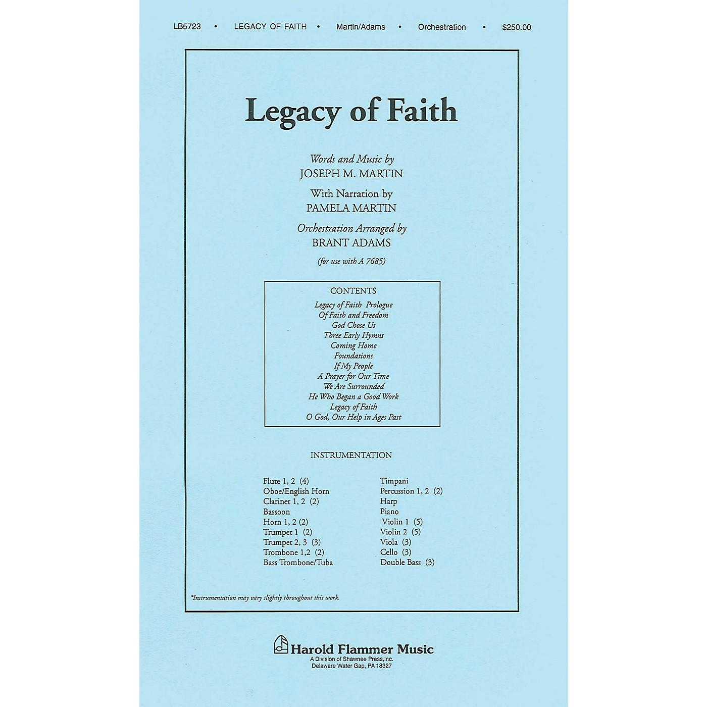 Shawnee Press Legacy of Faith Score & Parts arranged by Brant Adams thumbnail