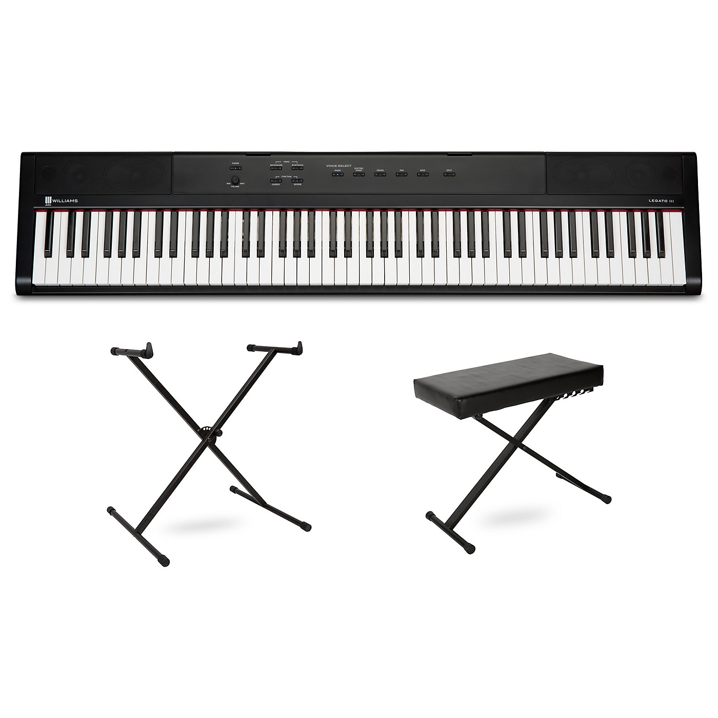 Williams Legato III Keyboard with Stand and Bench thumbnail