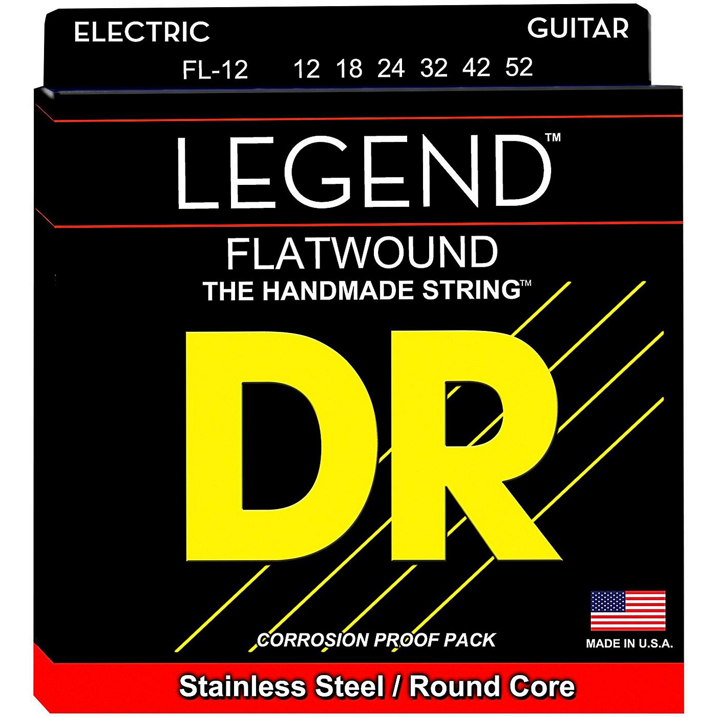 DR Strings Legend Light Flatwound Electric Guitar Strings thumbnail