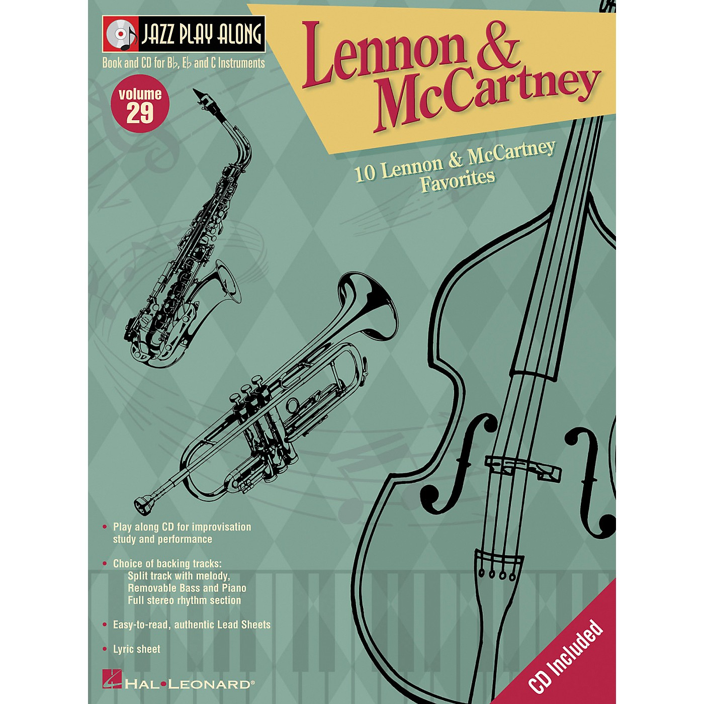 Hal Leonard Lennon And McCartney - Jazz Play Along Volume 29 Book with CD thumbnail