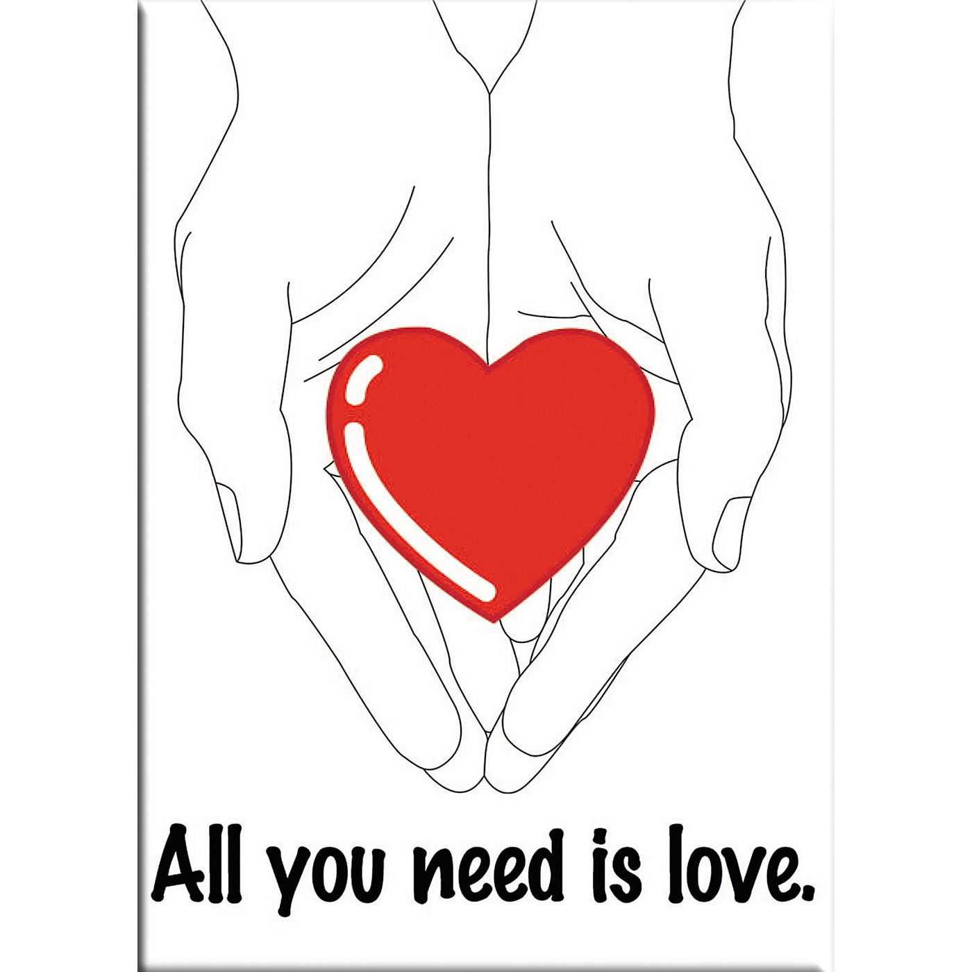 C&D Visionary Lennon & McCartney All You Need Is Love Magnet thumbnail