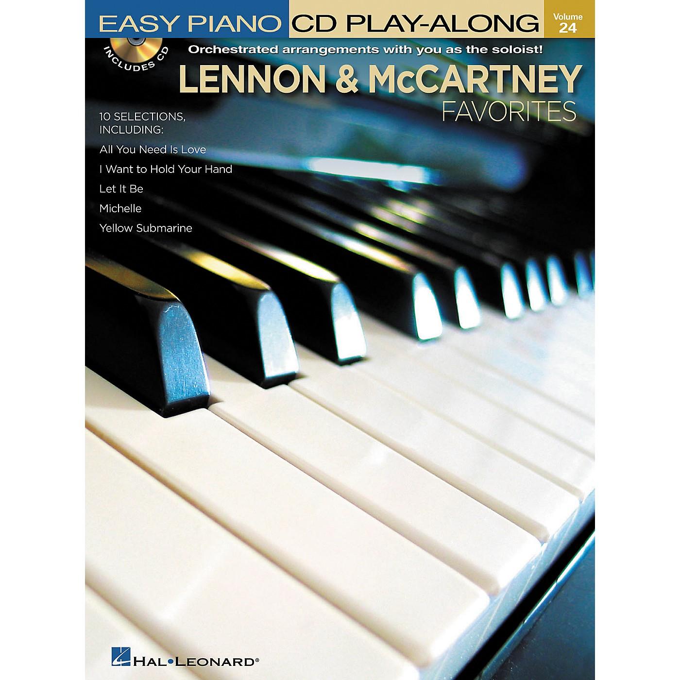 Hal Leonard Lennon & McCartney Favorites - Easy Piano CD Play-Along Volume 24 Book/CD thumbnail