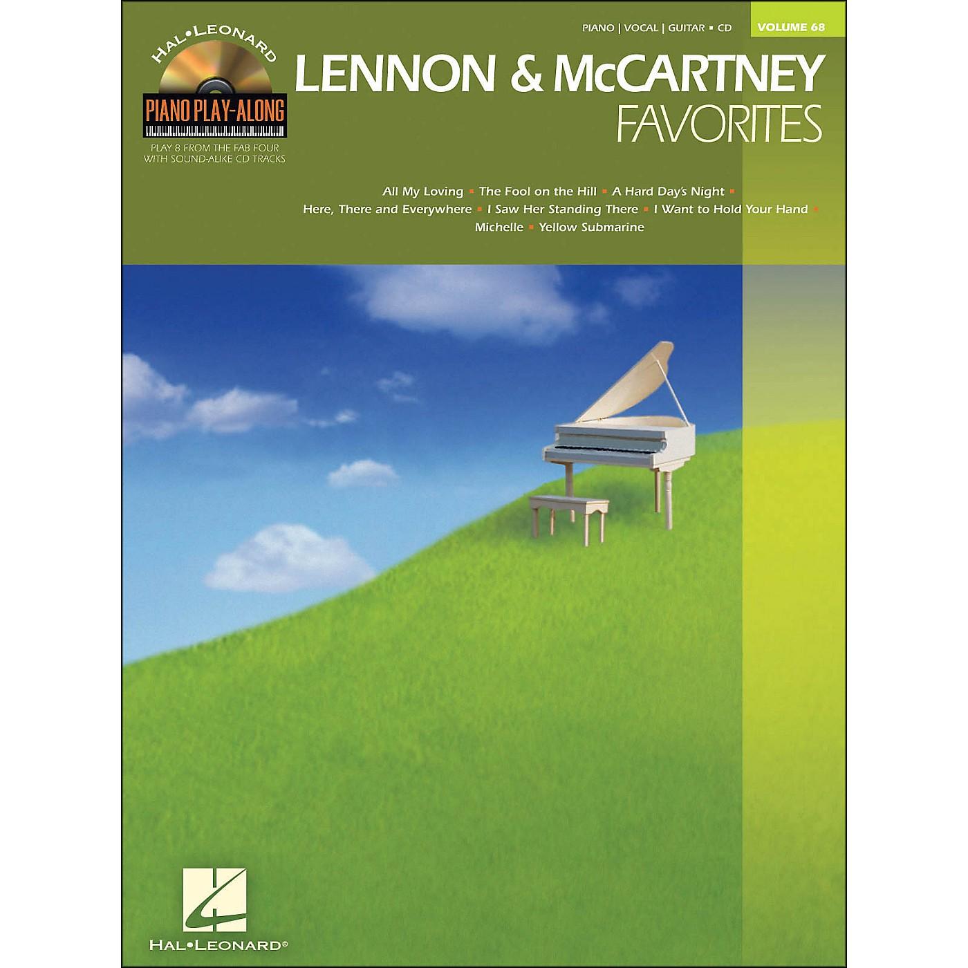 Hal Leonard Lennon & McCartney Favorites - Piano Play-Along Volume 68 (CD/Pkg) arranged for piano, vocal, and guitar (P/V/G) thumbnail