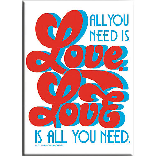 C&D Visionary Lennon & McCartney Love Is All You Need Magnet thumbnail