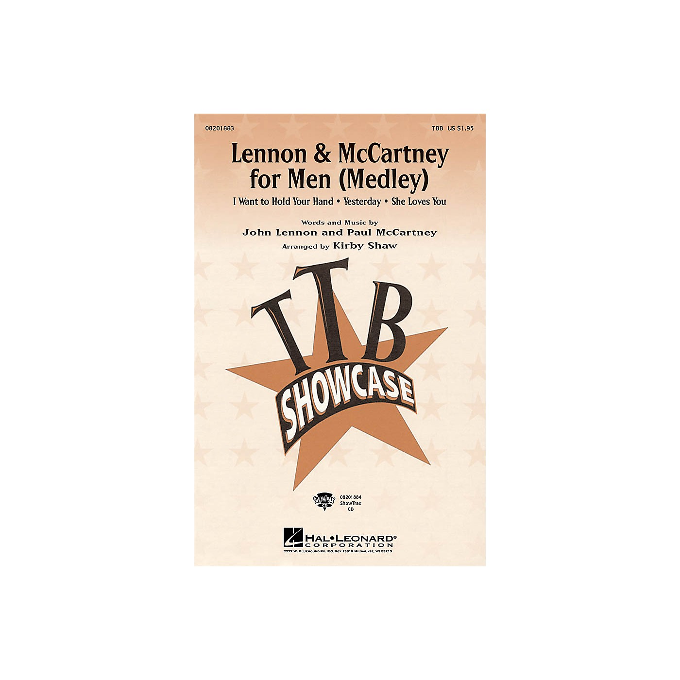 Hal Leonard Lennon & McCartney for Men (Medley) TTB arranged by Kirby Shaw thumbnail
