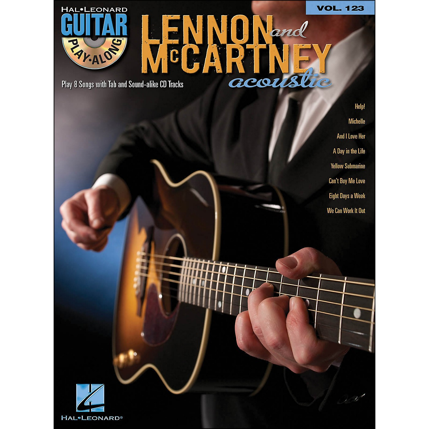 Hal Leonard Lennon & Mccartney Acoustic - Guitar Play-Along Volume 123 (Book/CD) thumbnail