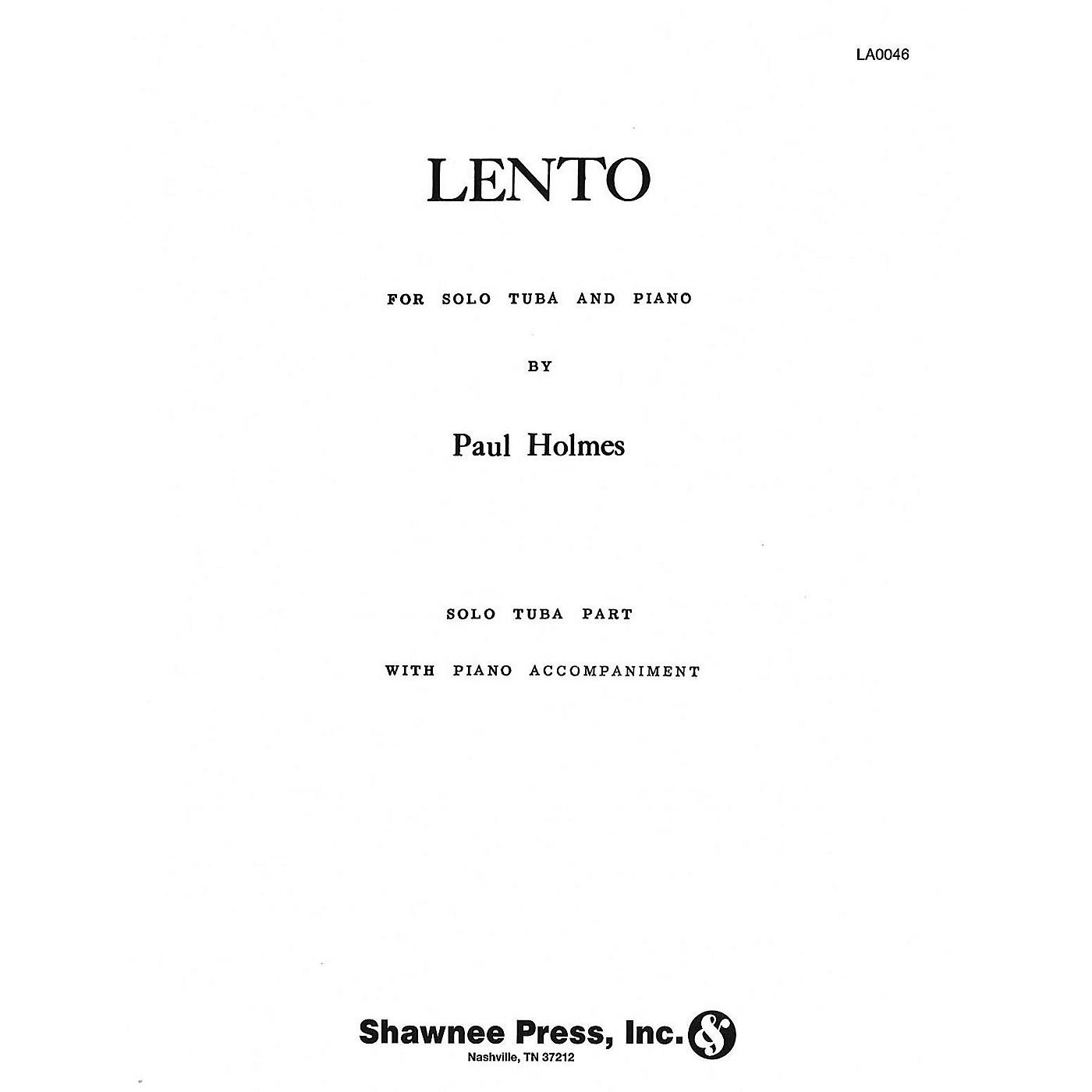 Hal Leonard Lento (Tuba in C (B.C.) and Piano) Tuba Composed by Paul Holmes thumbnail