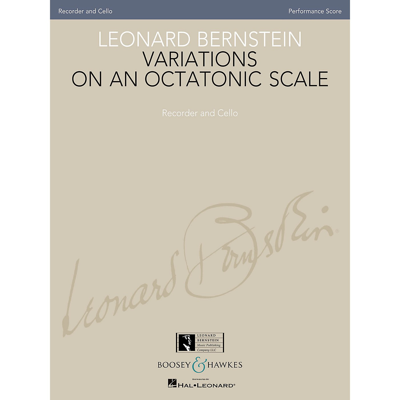 Boosey and Hawkes Leonard Bernstein - Variations on an Octatonic Scale Boosey & Hawkes Chamber Music by Leonard Bernstein thumbnail