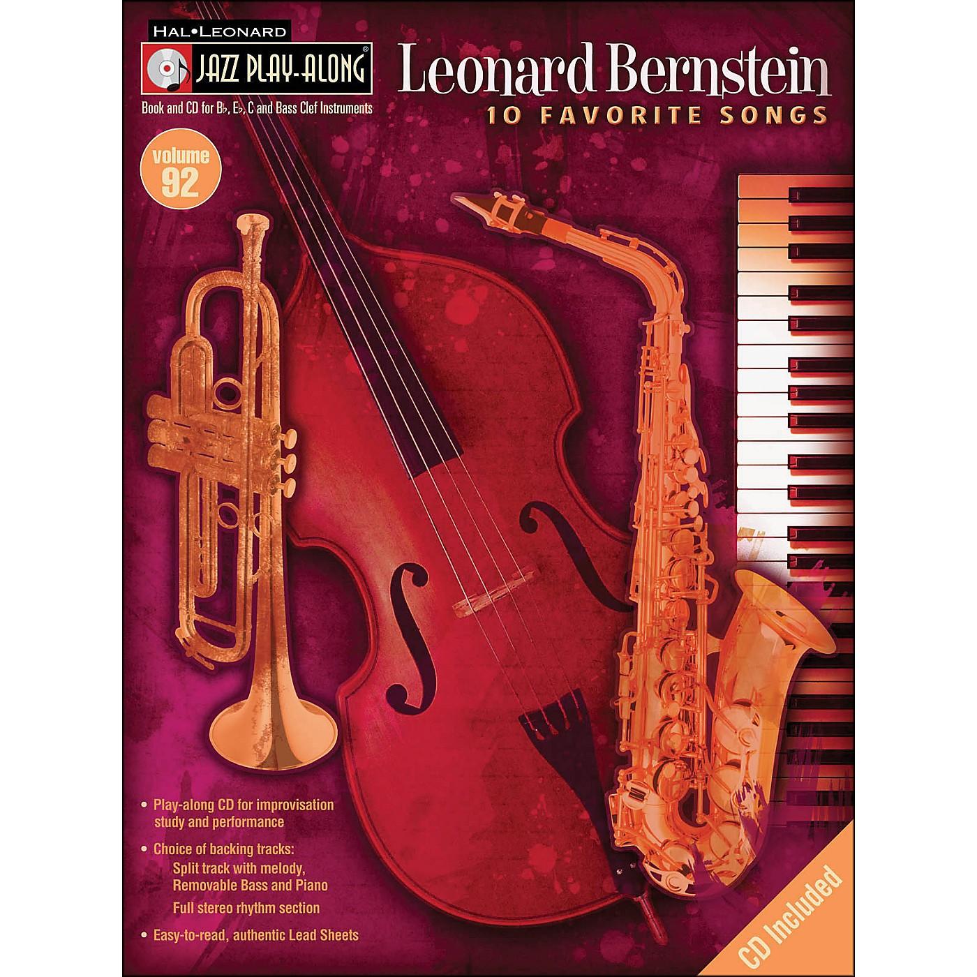 Hal Leonard Leonard Bernstein Jazz Play-Along Volume 92 Book/CD thumbnail