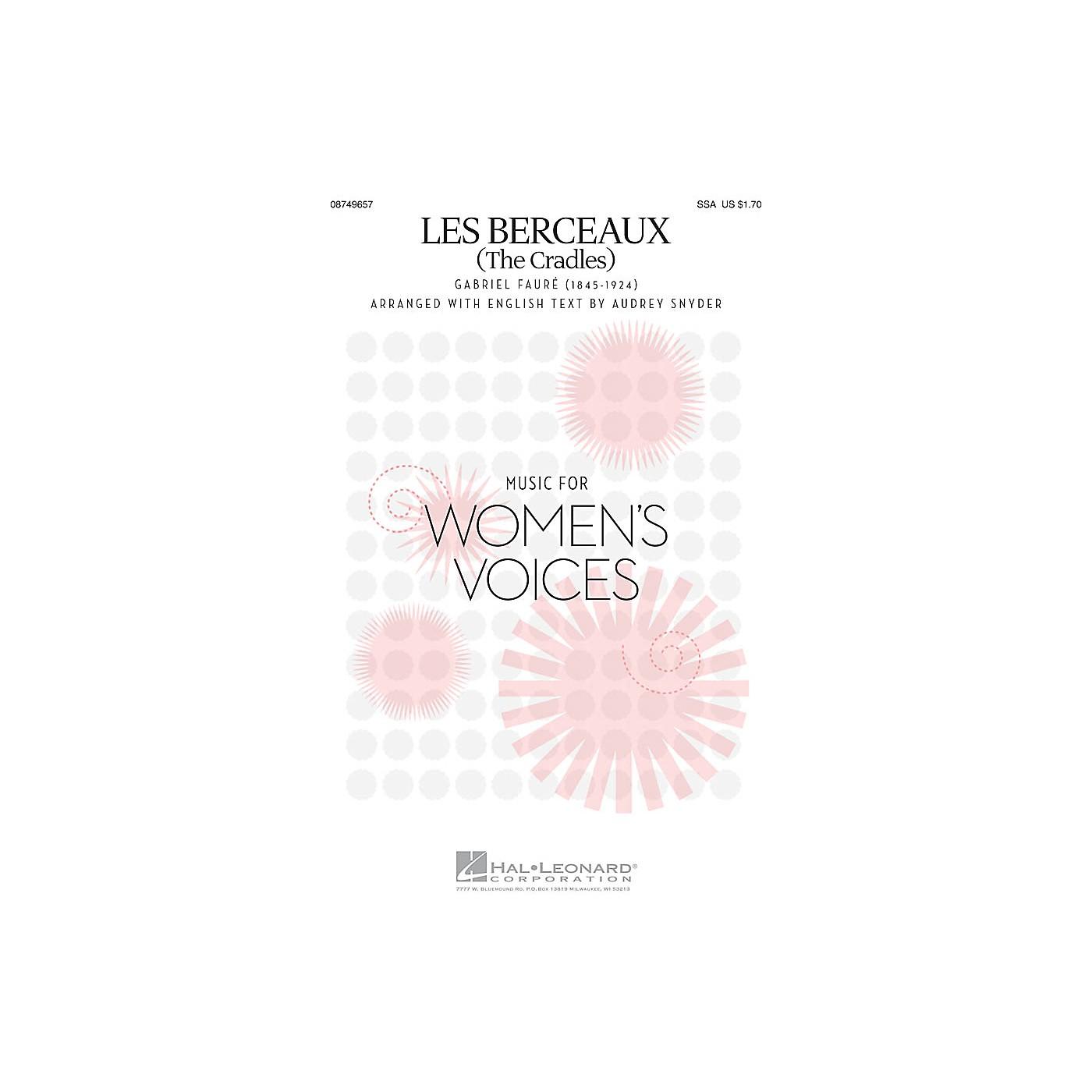 Hal Leonard Les Berceaux (The Cradles) SSA arranged by Audrey Snyder thumbnail