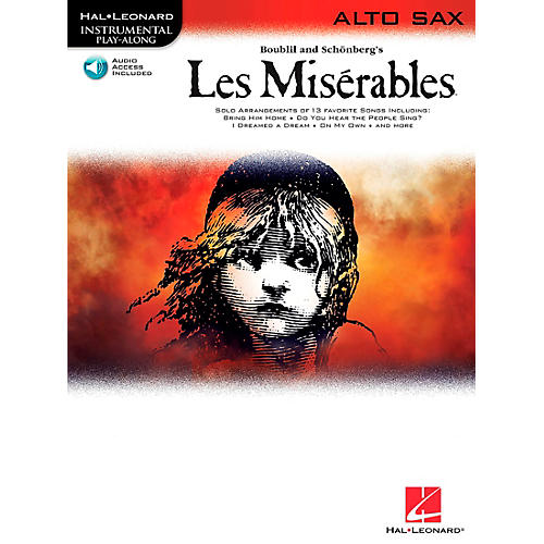 Hal Leonard Les Miserables for Alto Sax - Instrumental Play-Along Book/CD thumbnail