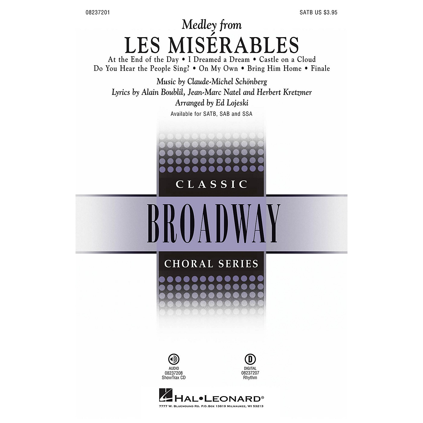 Hal Leonard Les Misérables (Choral Medley) SATB arranged by Ed Lojeski thumbnail