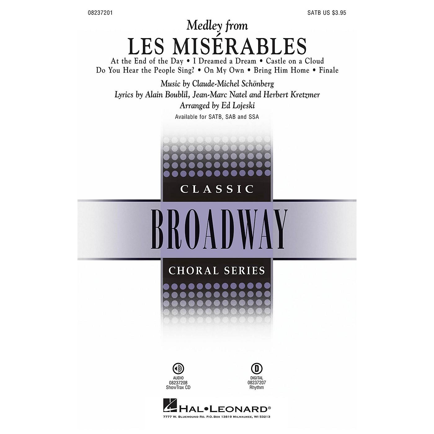 Hal Leonard Les Misérables (Choral Medley) ShowTrax CD Arranged by Ed Lojeski thumbnail