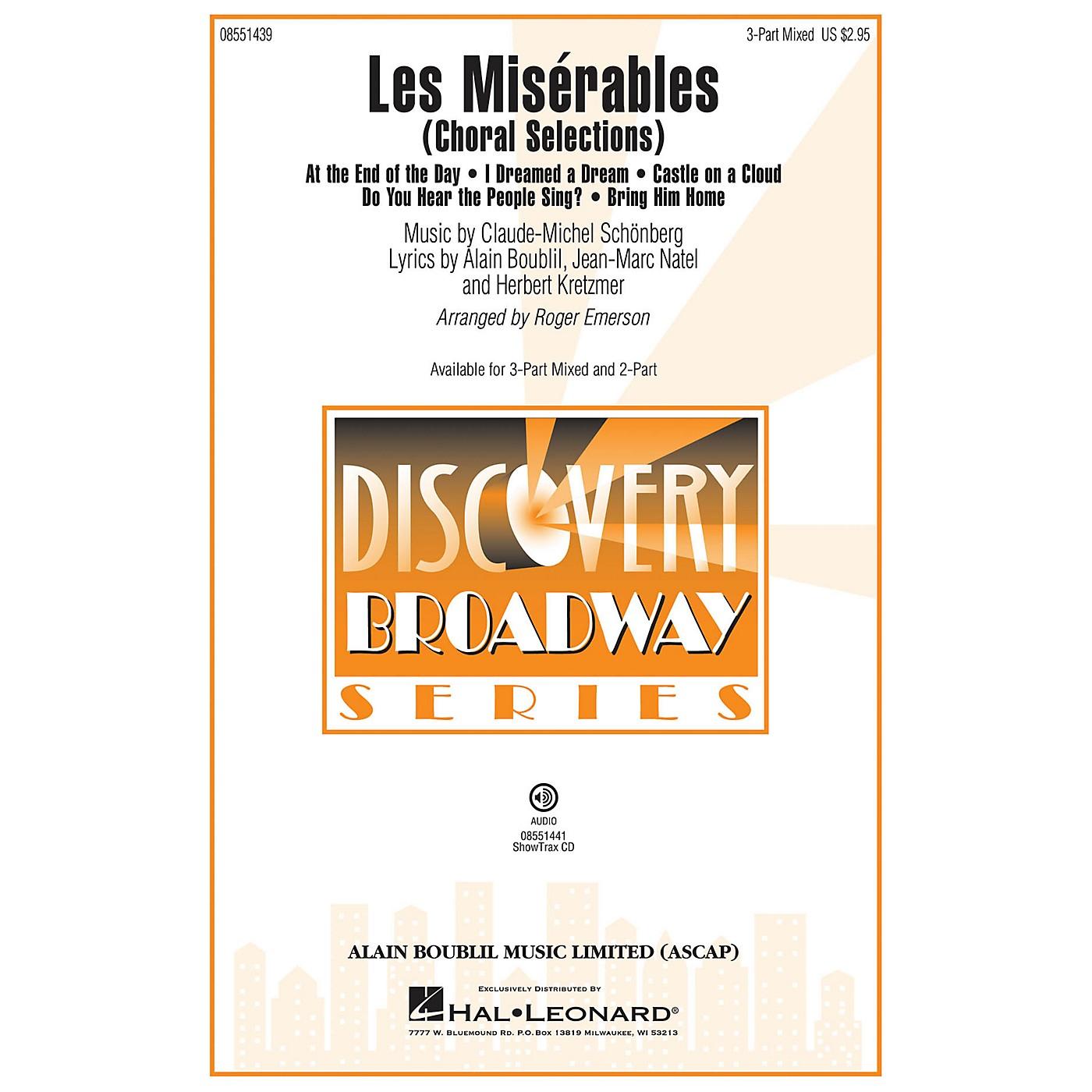 Hal Leonard Les Misérables (Choral Selections 3-Part Mixed) 3-Part Mixed arranged by Roger Emerson thumbnail