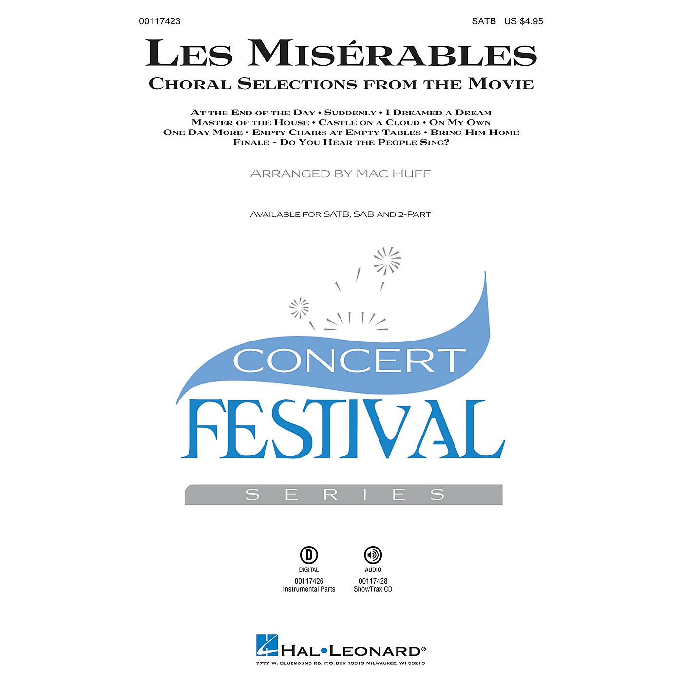 Hal Leonard Les Misérables (Choral Selections from the Movie) ShowTrax CD Arranged by Mac Huff thumbnail