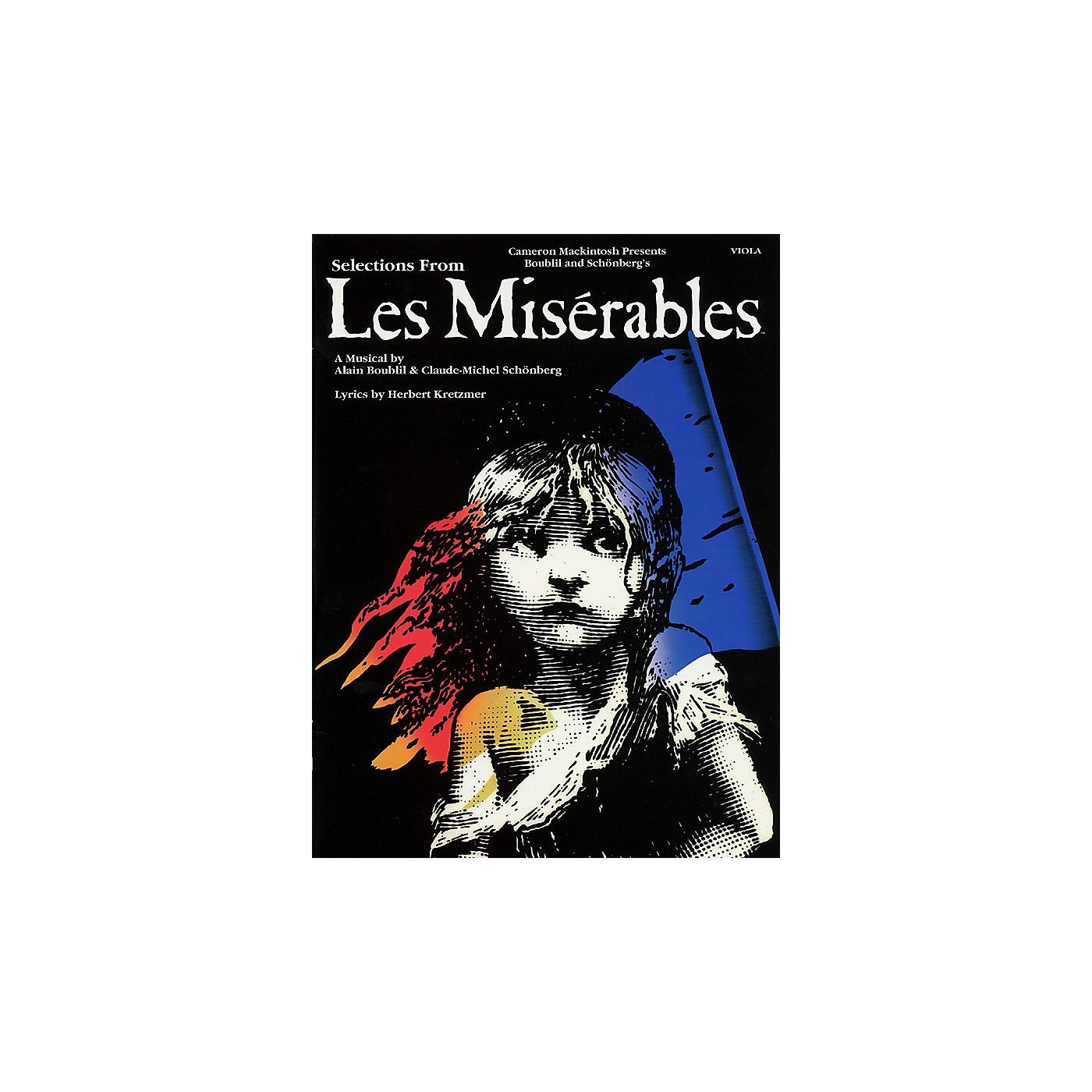 Hal Leonard Les Misérables (Instrumental Solos for Viola) Instrumental Solo Series Softcover thumbnail