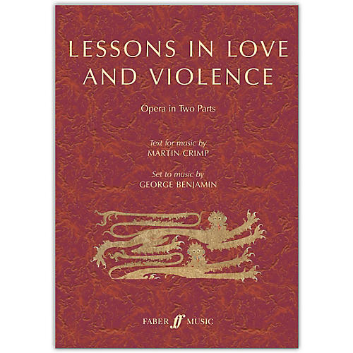 Faber Music LTD Lessons in Love and Violence Libretto thumbnail