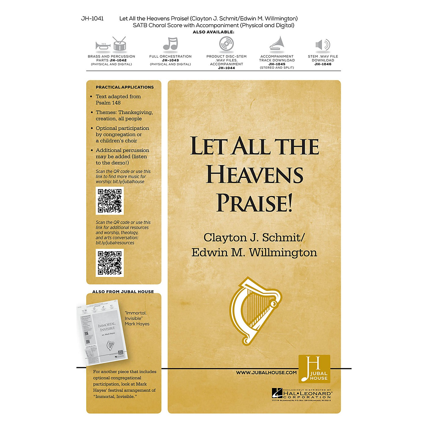Jubal House Publications Let All the Heavens Praise! BRASS/PERCUSSION PARTS Composed by Clayton J. Schmit thumbnail