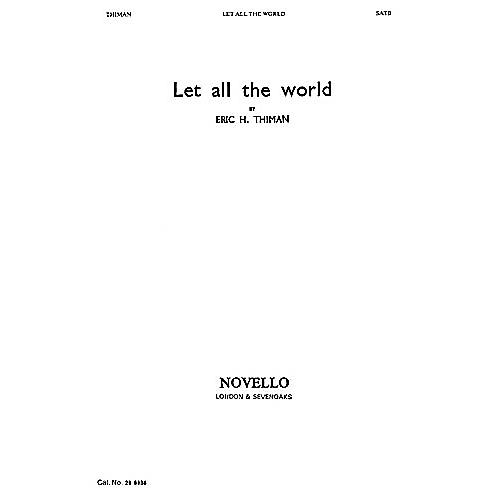 Novello Let All the World SATB Written by George Herbert thumbnail