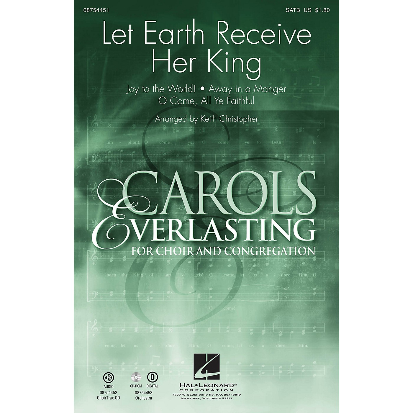 Hal Leonard Let Earth Receive Her King SATB arranged by Keith Christopher thumbnail