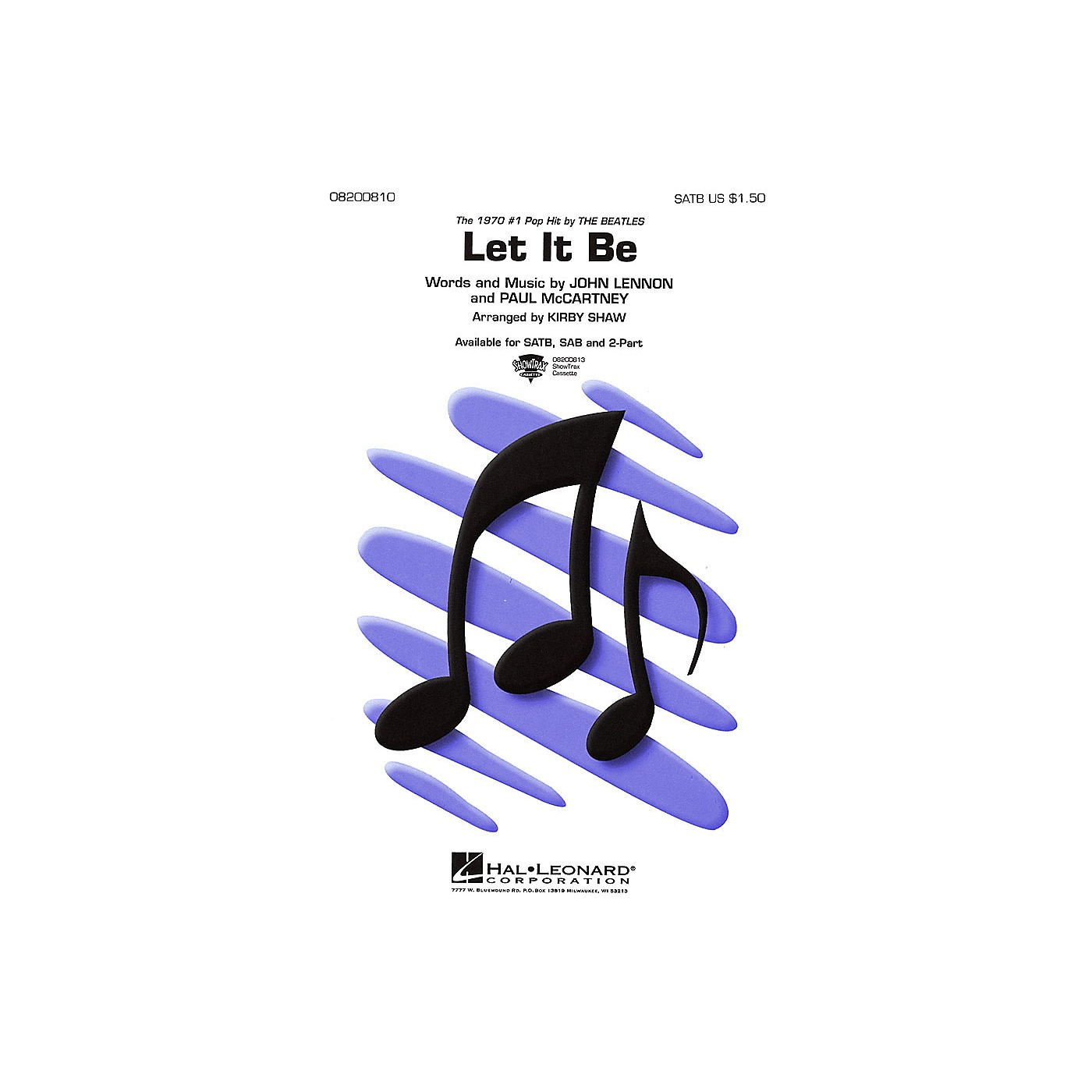 Hal Leonard Let It Be SAB by The Beatles Arranged by Kirby Shaw thumbnail