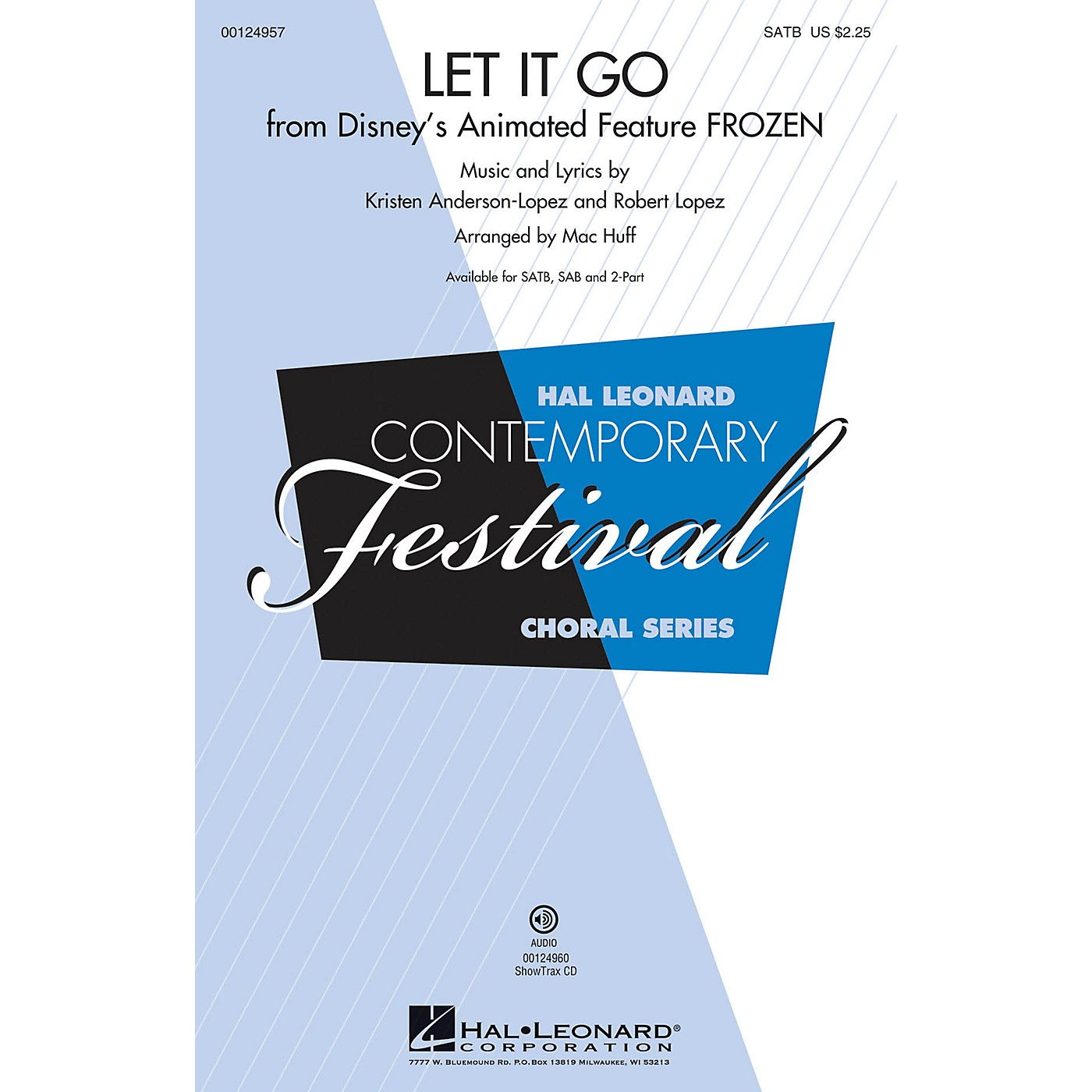 Hal Leonard Let It Go (from Frozen) SATB arranged by Mac Huff thumbnail