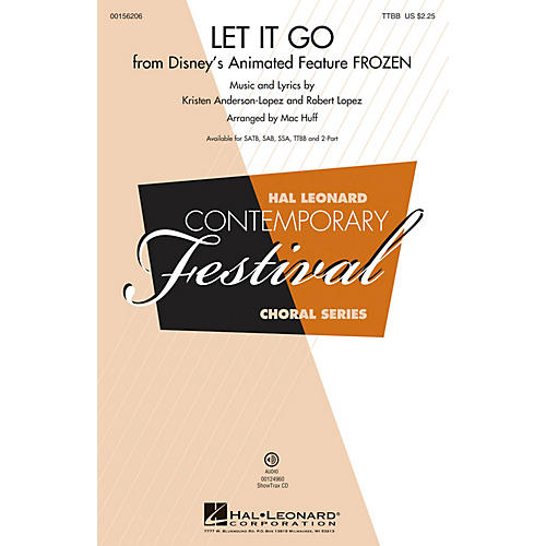 Hal Leonard Let It Go (from Frozen) TTBB by Idina Menzel arranged by Mac Huff thumbnail