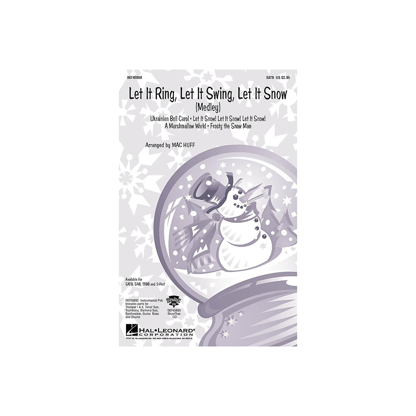 Hal Leonard Let It Ring, Let It Swing, Let It Snow (Medley) TTBB Arranged by Mac Huff thumbnail