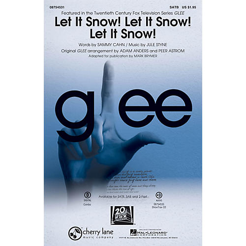 Cherry Lane Let It Snow! Let It Snow! Let It Snow! 2-Part by Glee Cast Arranged by Adam Anders thumbnail