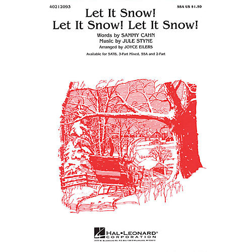 Hal Leonard Let It Snow! Let It Snow! Let It Snow! 3-Part Mixed Arranged by Joyce Eilers thumbnail