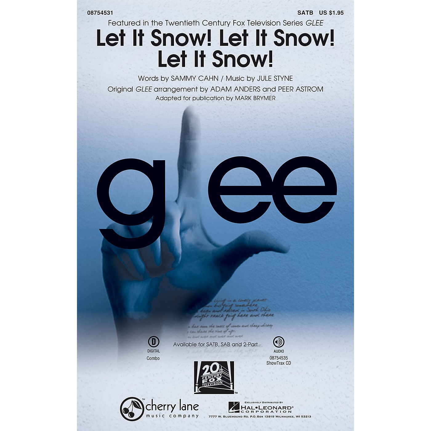 Cherry Lane Let It Snow! Let It Snow! Let It Snow! SATB by Glee Cast arranged by Adam Anders thumbnail