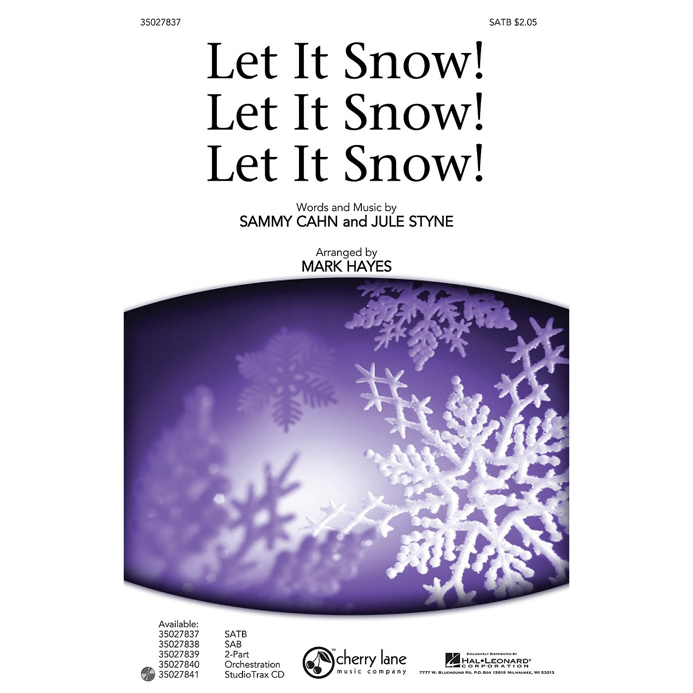 Shawnee Press Let It Snow! Let It Snow! Let It Snow! Studiotrax CD Arranged by Mark Hayes thumbnail