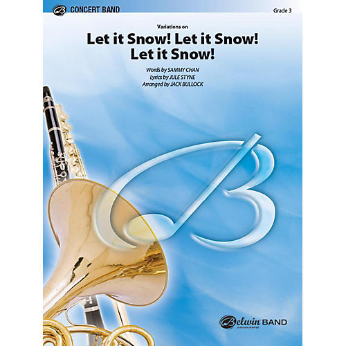 Alfred Let It Snow! Let It Snow! Let It Snow!, Variations on Concert Band Grade 3 Set thumbnail