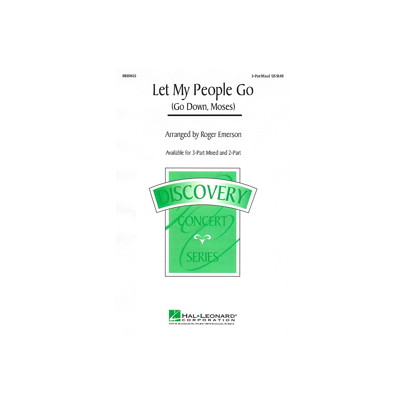 Hal Leonard Let My People Go (Go Down, Moses) 3-Part Mixed arranged by Roger Emerson thumbnail