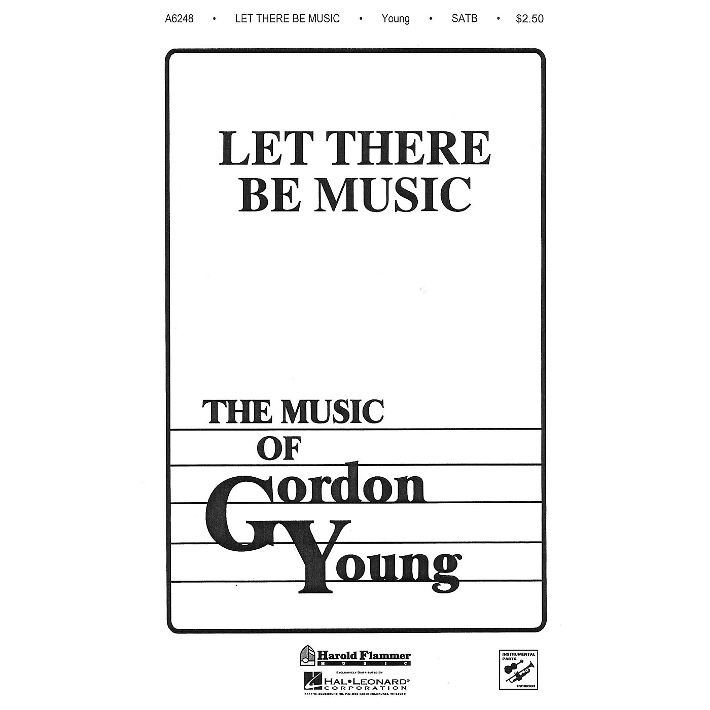 Shawnee Press Let There Be Music SATB composed by Gordon Young thumbnail