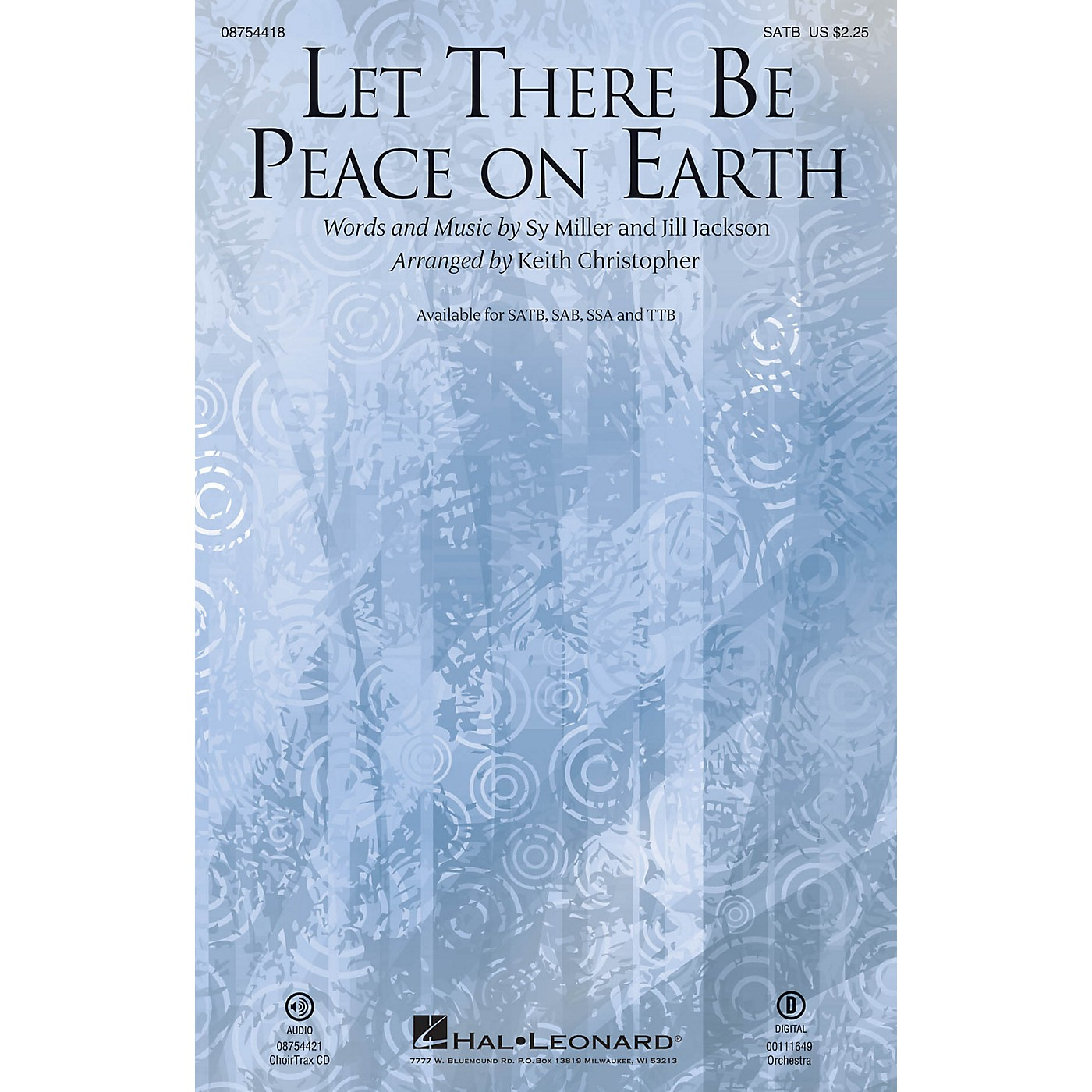 Hal Leonard Let There Be Peace on Earth SSA Arranged by Keith Christopher thumbnail