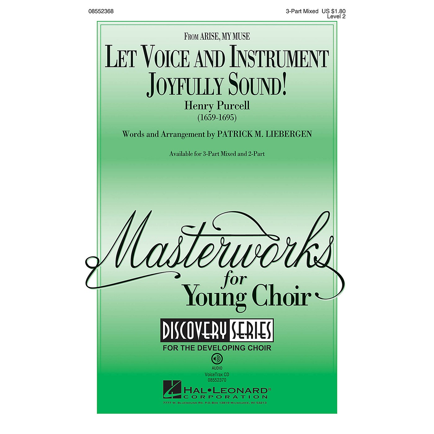 Hal Leonard Let Voice and Instrument Joyfully Sound! (Discovery Level 2) 2-Part Arranged by Patrick Liebergen thumbnail