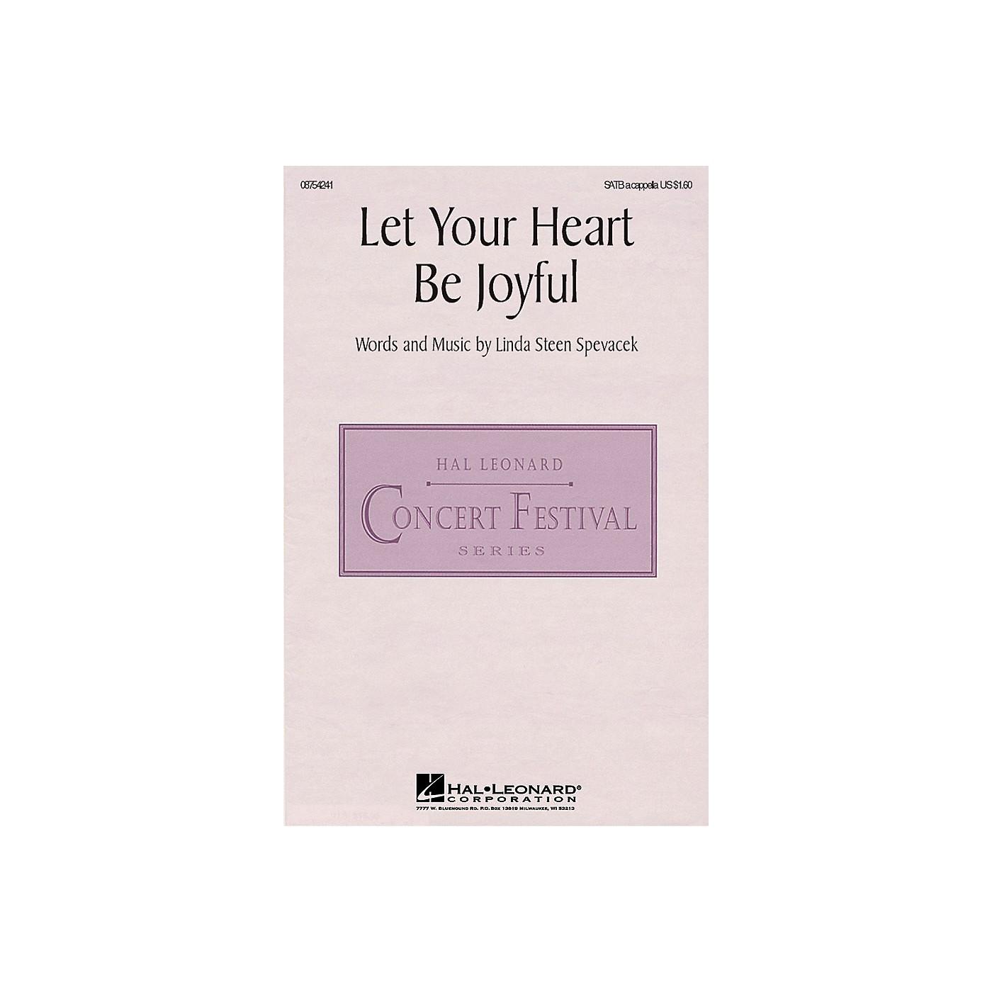 Hal Leonard Let Your Heart Be Joyful SATB a cappella composed by Linda Spevacek thumbnail